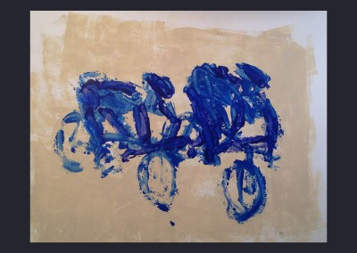 Blue Riders 18 X 24 Acrylic on Paper