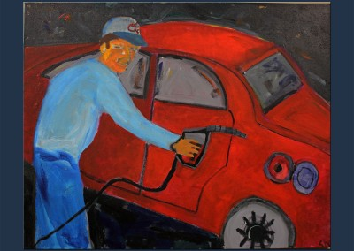 Fill 'er up 24 X 30 Acrylic on Canvas