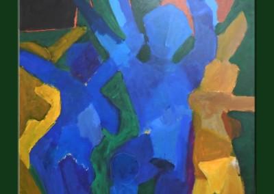 Midnight dancing 36 X 36 Acrylic on Canvas