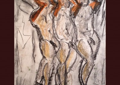 The Dancers 16 X 13 Soft Pastel on Paper