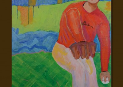 Three Seam Fastball 30 X 24 Acyrlic on Canvas