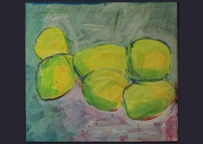 6 Lemons Straight 11 X 12 Acrylic on Paper