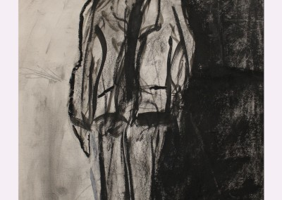 A Singular Man 14x12 Charcoal on paper