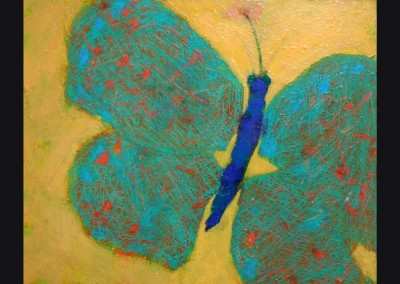 Blue Butterfly 24 X 30 Acrylic on canvas