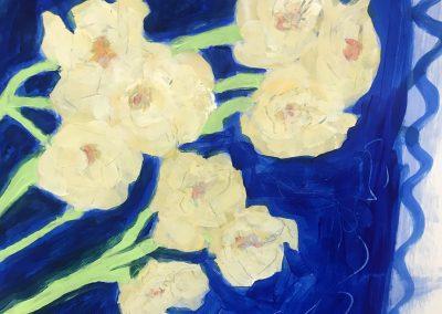 Daffodil 24x19 Acrylic on Paper