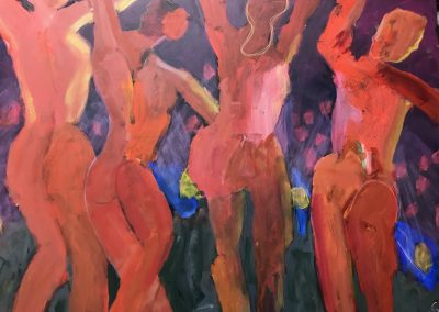 Dancers 48x36 Acrylic on canvas