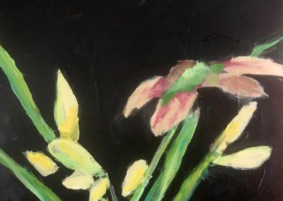 Japanese Iris 24x18 Acrylic on Canvas