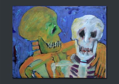 Memento Mori 18 X 24 Acrylic on Canvas -- SOLD