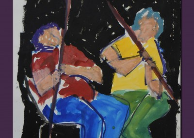 Musicians 23 x 18 Acrylic on paper