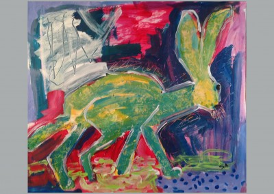 Myerberg Hare 20 X 24 Acrylic on Paper