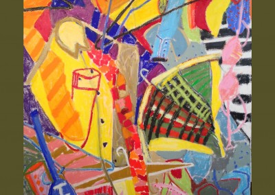 Patti's Closet 48 X 36 Oil Stick on Canvas - Sold