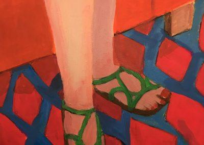 Patti's Legs 24x20 Acrylic on Canvas