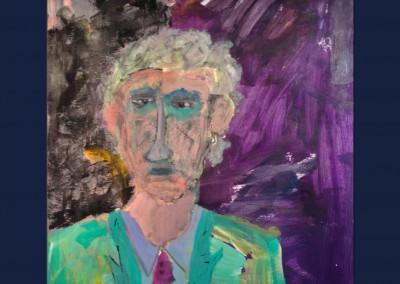 Self Portrait 19 X 24 Acrylic Oil Stick on Canvas