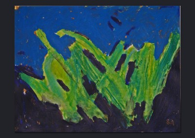 Skunk Cabbage 11 X 15 Acrylic, Oil Stick on Paper