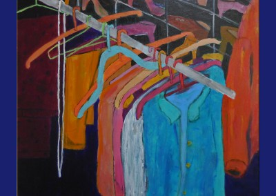 The Closet 30 X 30 Acrylic on canvas
