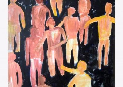 The Street 60 X 48  Acrylic on canvas