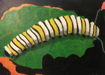 Monarch Inside # 01 24 x 30 Acrylic on canvas