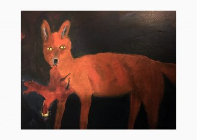Fox 16x20 Acylic on Canvas