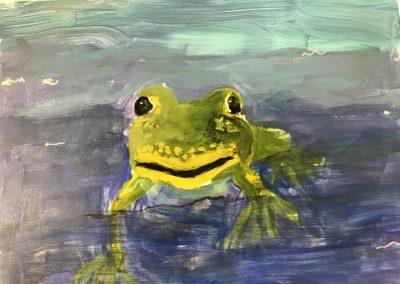 Frog 12x14 Acrylic on Paper