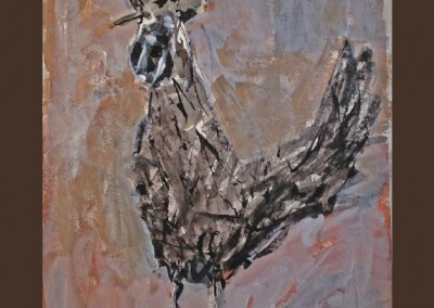 Negro Gallo18 X 24 Charcoal Acrylic on Paper