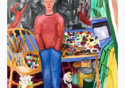 Beneath the paint 60 X 48 Acrylic on canvas