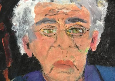 Portrait Old man 12 X 12 acrylic on paper