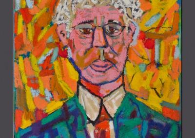 Self Portrait 20 X 16 Acrylic, Oil Stick on Canvas 1