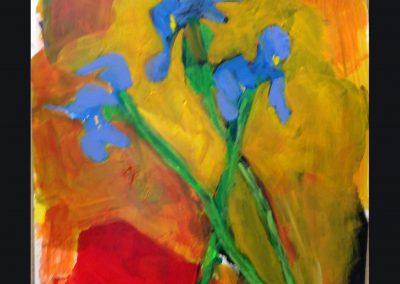 Dutch Iris 16 X 14 Acrylic on Yupo Paper
