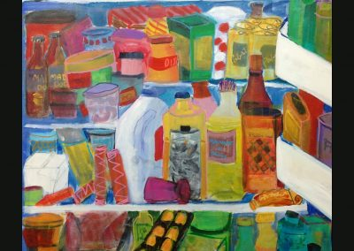 Ellen's fridge 40 X 30 Acrylic on canvas