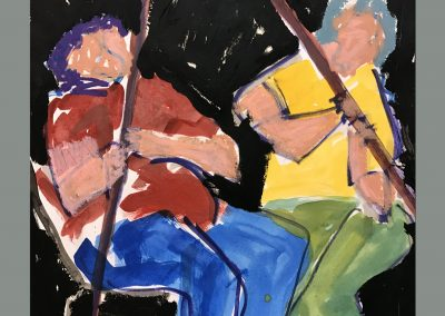 Musicians 24 X 18 Acrylic on paper
