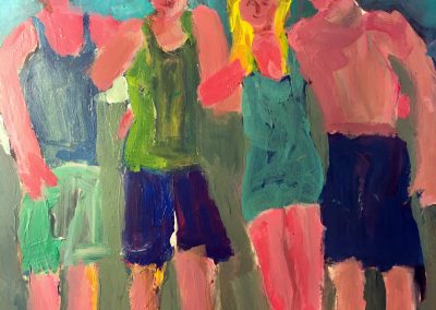 Paul with Friends 8x12 Acrylic on Paper