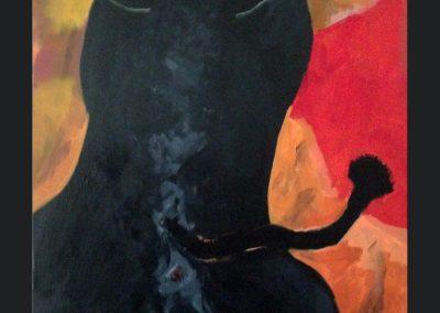 Raging Bull 40 X 30 Acrylic on Canvas