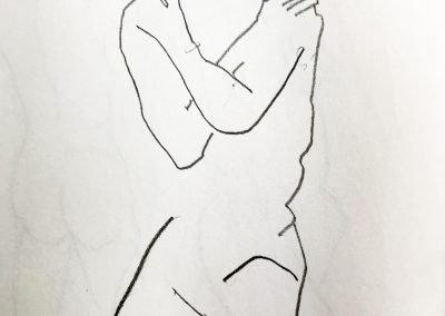 Woman with arms crossed 11 X 9 ink on paper