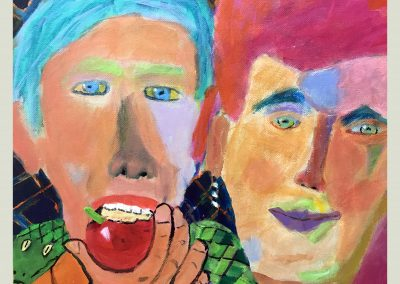 First Couple 24x20 Acrylic on Canvas