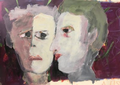 Friends 20x12 Acrylic on Paper