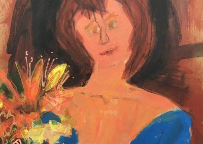Toni 24 X 19 Acrylic on canvas