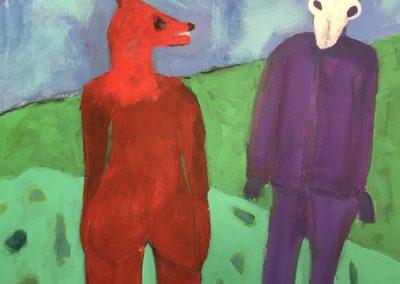 The Conversation 40x30 Acrylic on Canvas