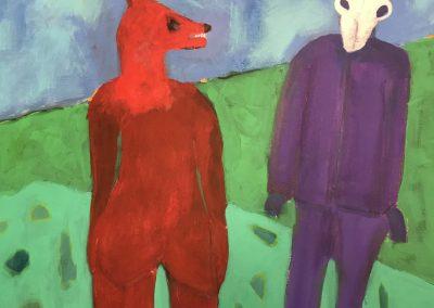 The Presumption of Paint 36x36 Acrylic on Canvas