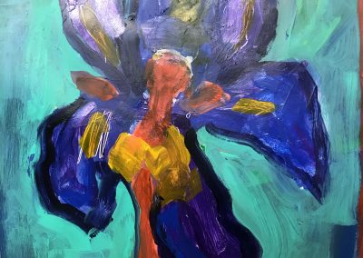 Dancer in the Flag Iris 24x18 Acrylic on Paper