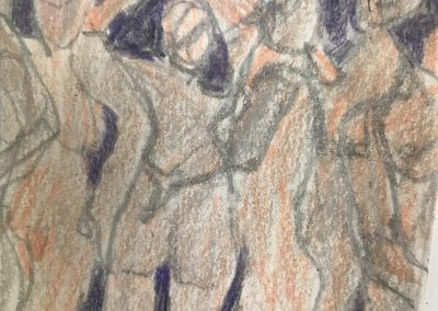 The Dance 6 X 6 Color pencil on paper